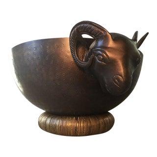 Goat Head 2-Piece Serving Bowl