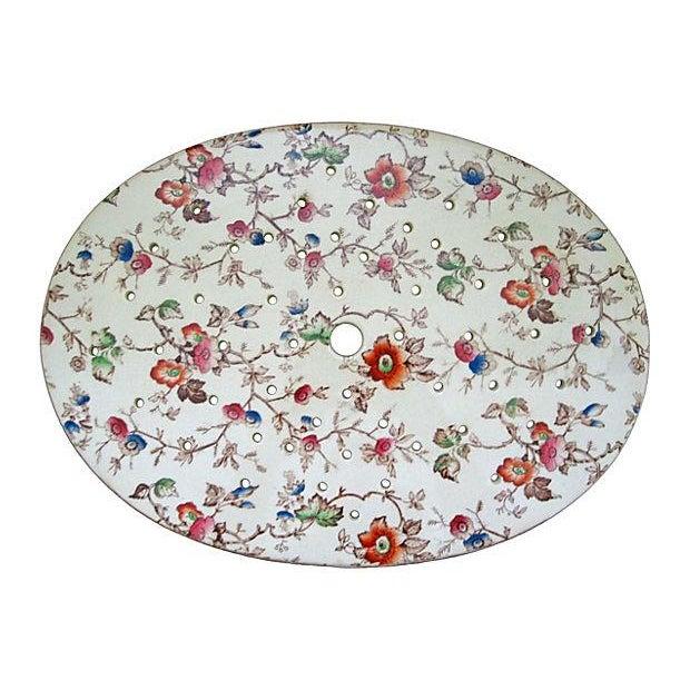Image of Staffordshire Antique Floral Chintz Drainer/Trivet