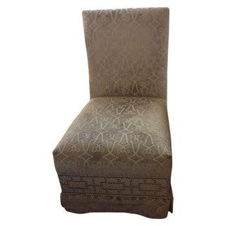 Donghia Slipper Chair in Gray Cut Velvet