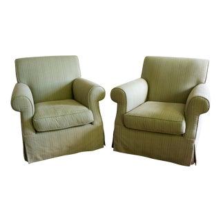 Custom Mid-Sized Club Chairs - A Pair