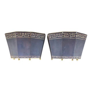 Wall Mounted Metal Planters - A Pair