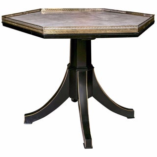 Galleried Marble Top Centre Table by Maison Jansen