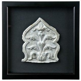 Framed Vintage French Zinc Architectural Fragment