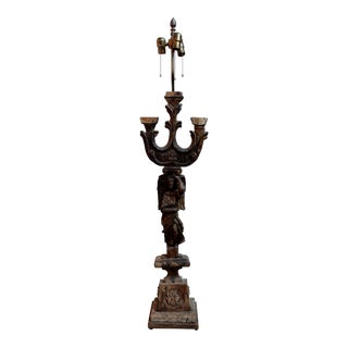 Architectural Wood Carving Lamp