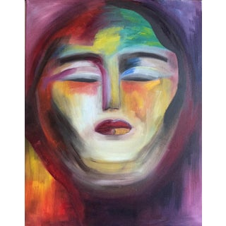 """""""Warrior Goddess"""" Abstract Oil Painting"""