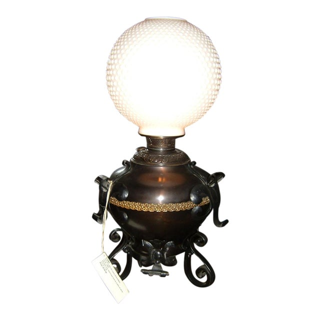 Arts & Crafts Electrified Oil Lamp - Image 1 of 5
