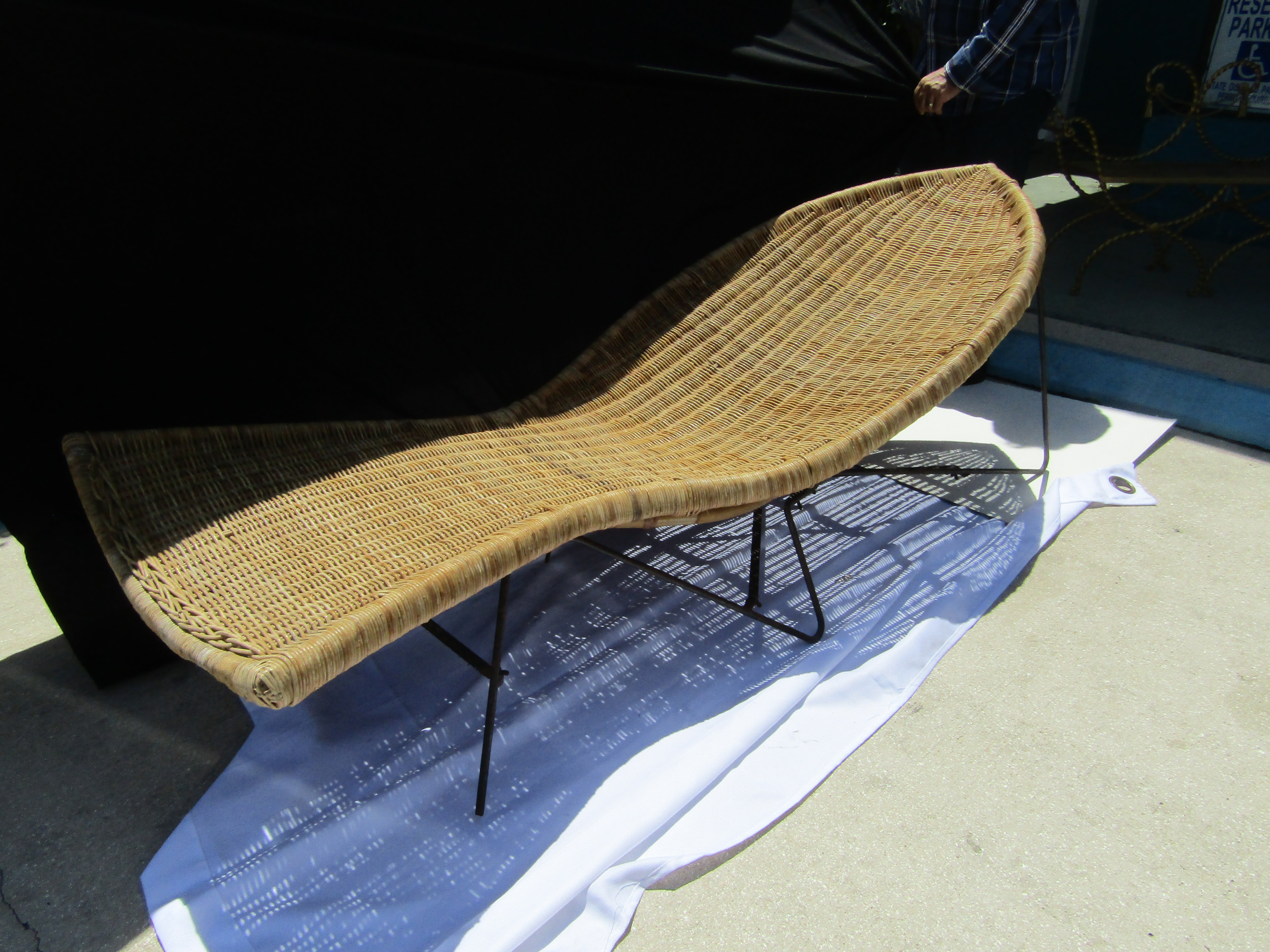 Mid Century  Fish  Wicker Chaise Lounge - Image ...  sc 1 st  Chairish : wicker chaise - Sectionals, Sofas & Couches