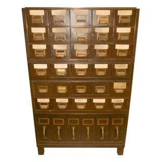 Vintage Industrial Steel File Cabinet