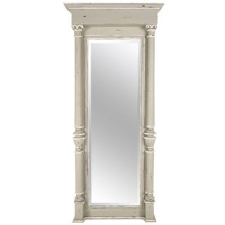 French 19th Century Antique Empire-style Standing Wall Mirror