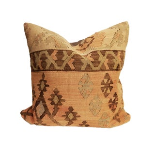 Old Turkish Tribal Kilim Pillow