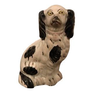 White Ceramic Staffordshire Dog