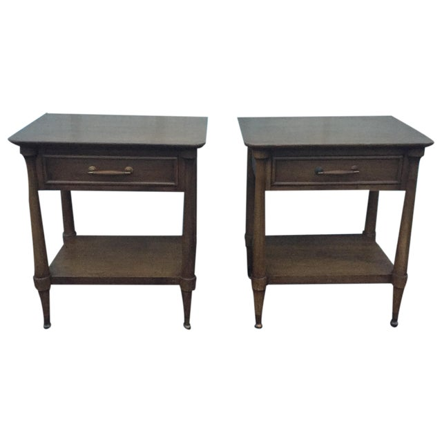 Mid-Century End Tables With Single Drawer - Pair - Image 3 of 12