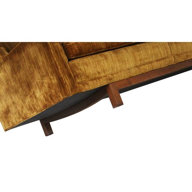 "Mid-Century Modern 101"" Sofa W Solid Walnut Base - Image 9 of 9"
