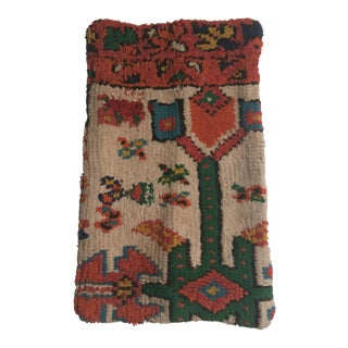 Stuffed Vintage 100% Moroccan Rug Wool Pillow Made in Marrakesh