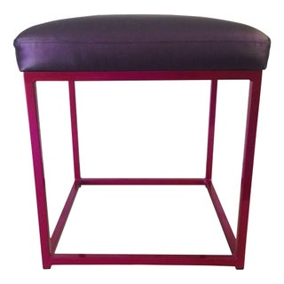 Cromatti Croma Stool Raspberry with Purple Cushion