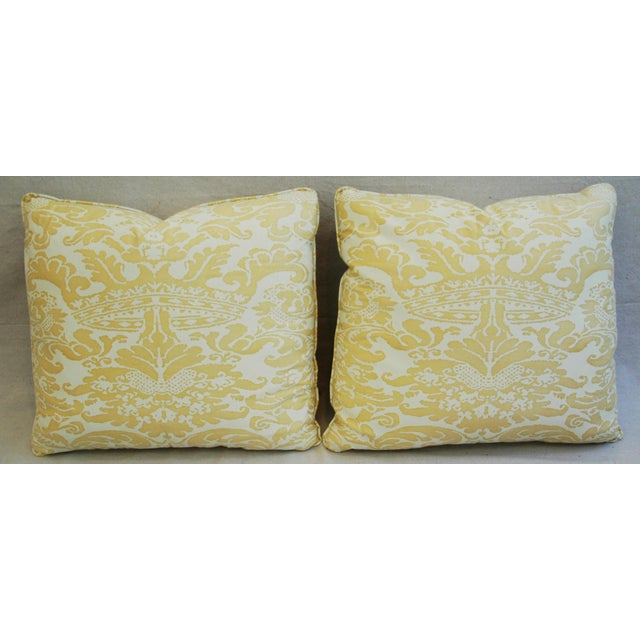 Mariano Fortuny Italian Corone Crown Feather/Down Pillows - Pair - Image 5 of 10