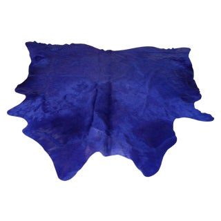 Hide Rug - XL Solid Dye BlueDeep Purple