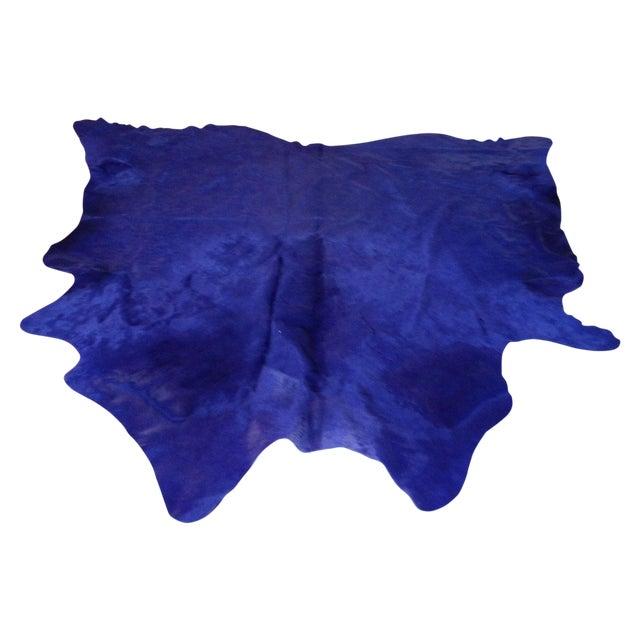 Image of Hide Rug - XL Solid Dye BlueDeep Purple
