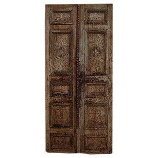 1700s Antique Architectural Carved Salvage Door