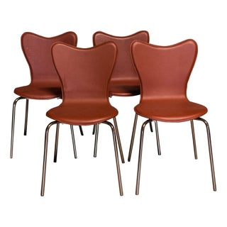 Leather Dining Chairs - 4