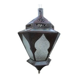 Moroccan Pierced Lantern Chandelier Boho Bohemian Hanging Lamp