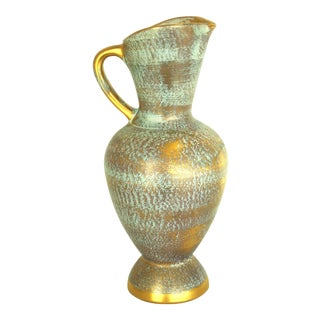 Stangl Mid-Century Gold Pitcher Vase