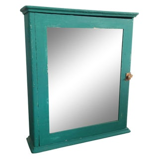 Teal Mirrored Medicine Cabinet, Storage Cabinet