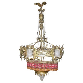 Large Art Nouveau Chandelier
