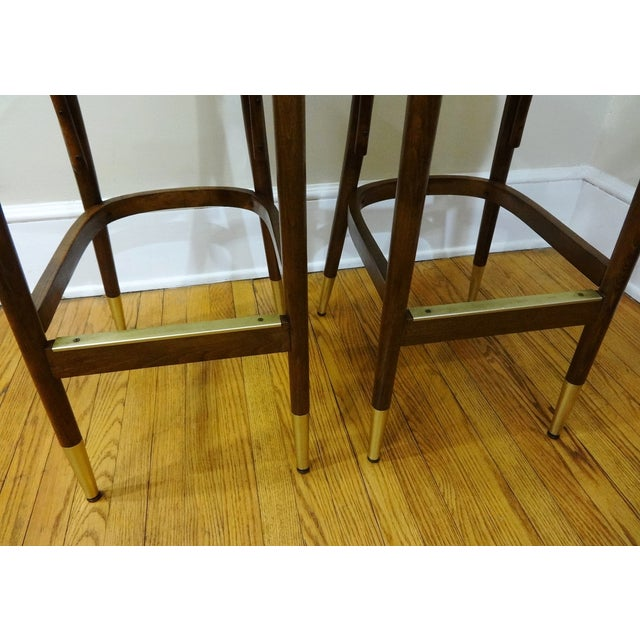Mid-Century Bentwood Bar Stools - A Pair - Image 6 of 6