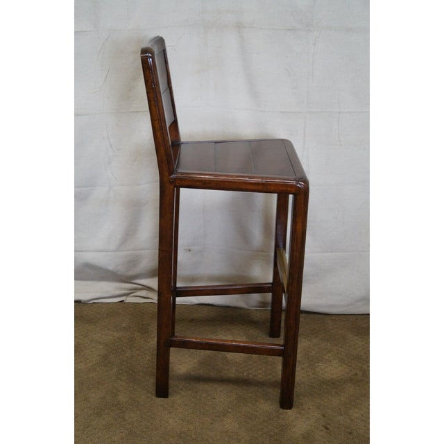 Jonathan Charles Country Farmhouse Walnut Barstool - Image 3 of 10