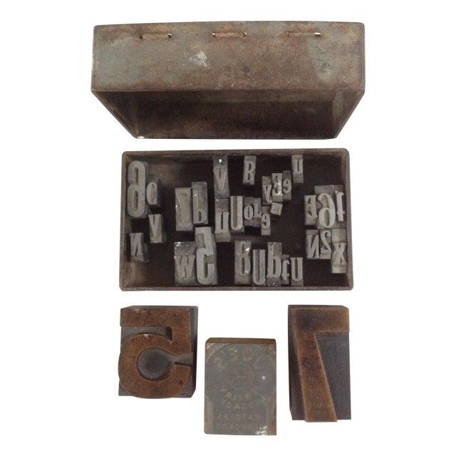 Vintage Industrial Letterpress Blocks - Set of 34 - Image 1 of 8