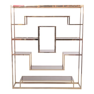 Large Romeo Rega Brass Shelf or Etagere