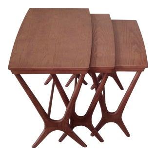 Scandinavian Design Nesting Tables - Set of 3