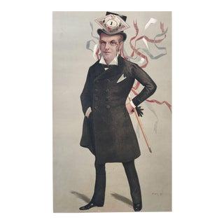 Original 1890 Vanity Fair French Royalty H.R.H. The Duke of Orleans Print
