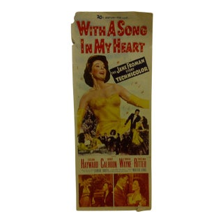 """Vintage """"With a Song in My Heart"""" 1952 Movie Poster"""