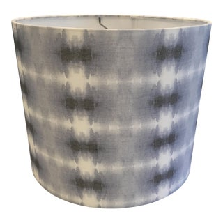 Shibori Linen Drum Lampshade