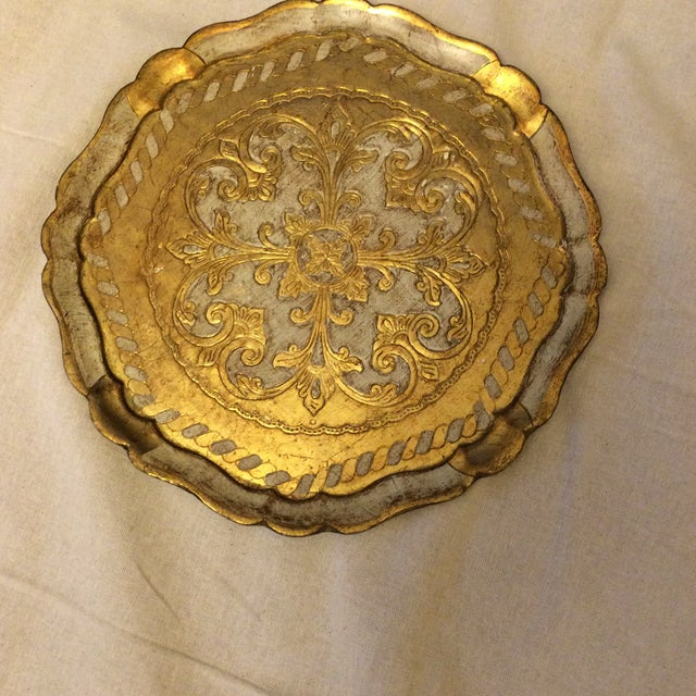 Florentine Gold & Cream Wooden Tray - Image 2 of 4