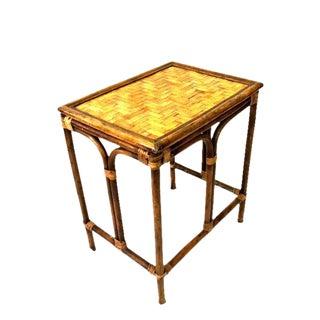 Vintage Rattan Accent Table