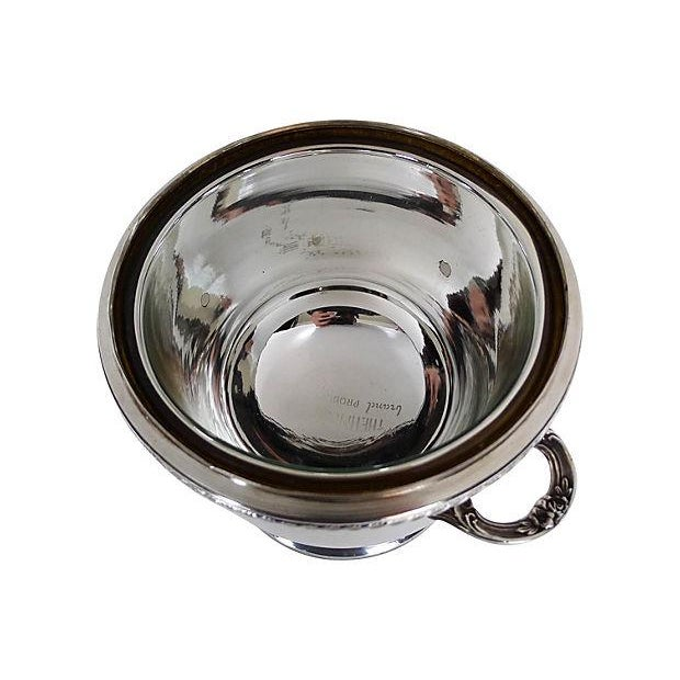 Silverplate-Covered Ice Bucket With Insulation - Image 4 of 5