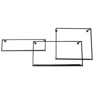 Cb2 Three-Piece Modular Black Metal Shelving