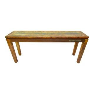 Antique Vintage Console Table Eco-Friendly Reclaimed Solid Wood
