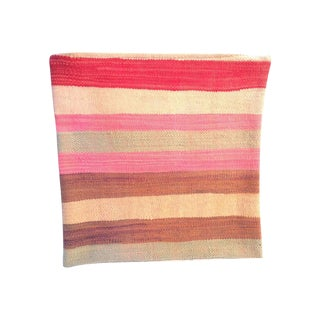 Pink and Tan Moroccan Kilim Pillow Cover