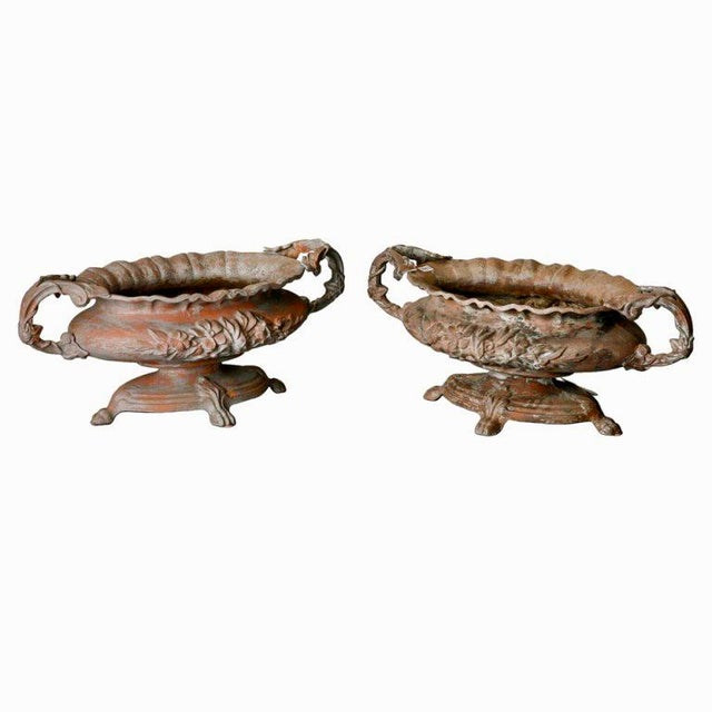 Antique French Chateau Spelter Jardinieres - A Pair - Image 2 of 8