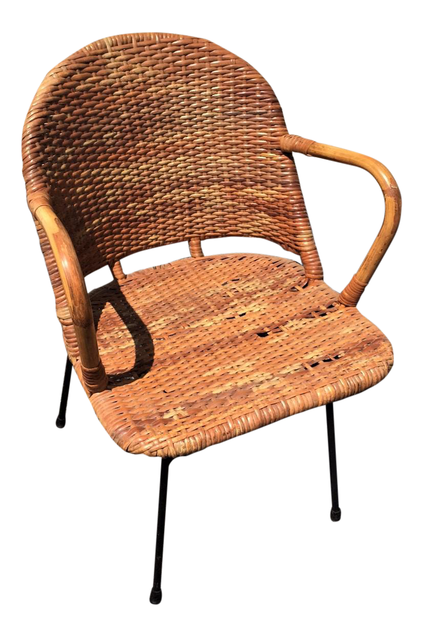 califasia midcentury rattan chair