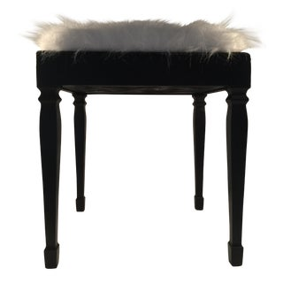 Faux Fur Piano Bench