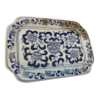 Chinese Blue & White Ceramic Tray