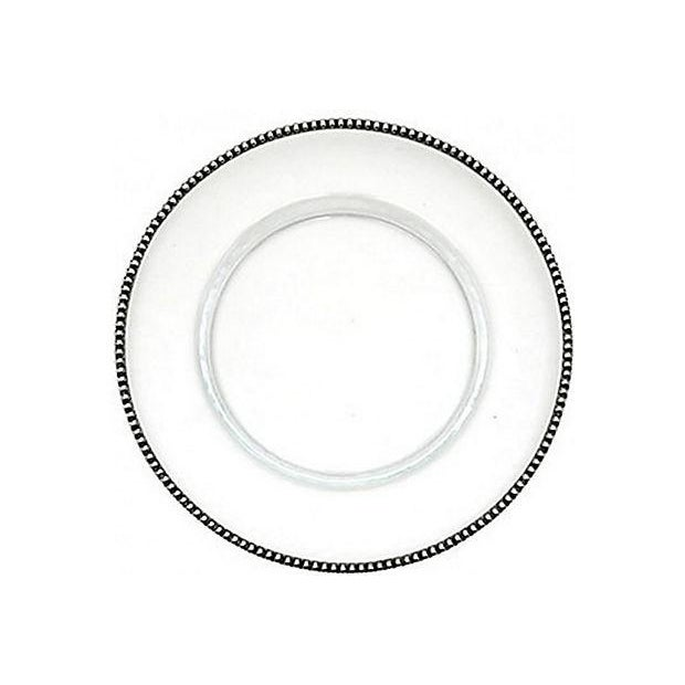 Tesoro Pewter Rimmed Charger - Image 1 of 5