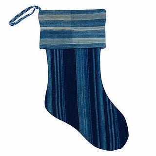 African Indigo Christmas Stocking