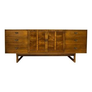 Mid-Century Drexel Composite Walnut Low Chest