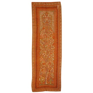Antique Silk Embroidered Kirman Suzani